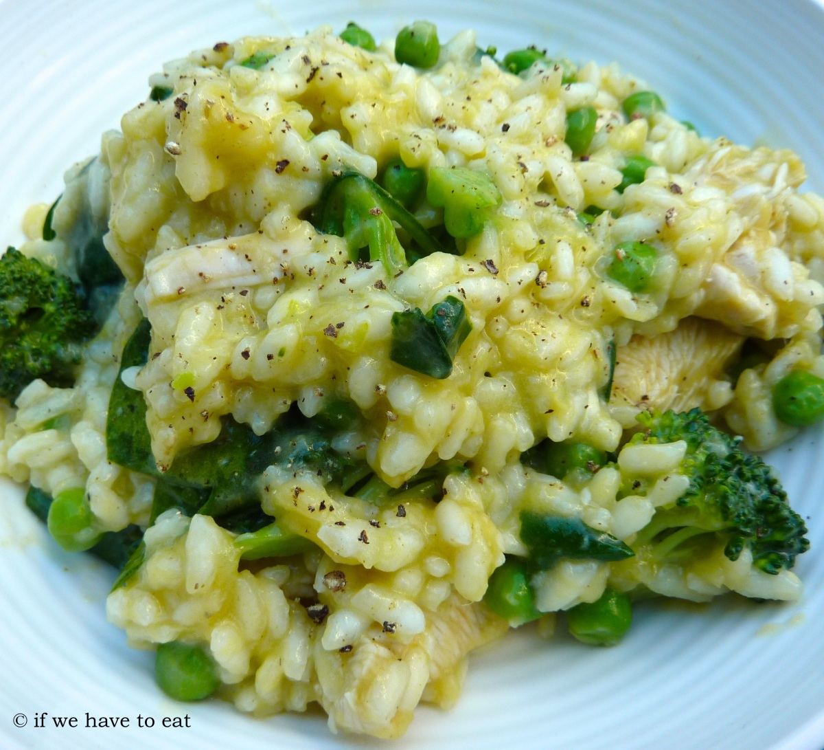 Chicken spinach pea and broccoli risotto if we have to eat for How do i make chicken risotto