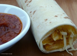 Egg Cheese Relish Wrap