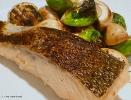 Salmon Mushrooms Brussel Sprouts