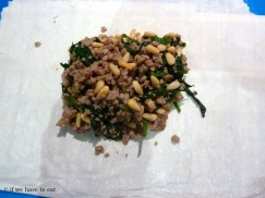 Pork Spinach Pine Nut filling 2