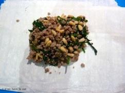Pork Spinach Pine Nut filling 2