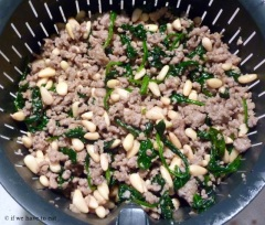 Pork Spinach Pine Nut filling 3