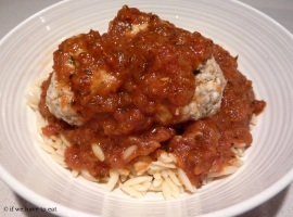 Chicken Meatballs Risoni Thermomix