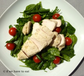 Chicken Bean Spinach Salad | Thermomix