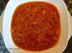 Tomato Bacon Lentil Soup | Thermomix
